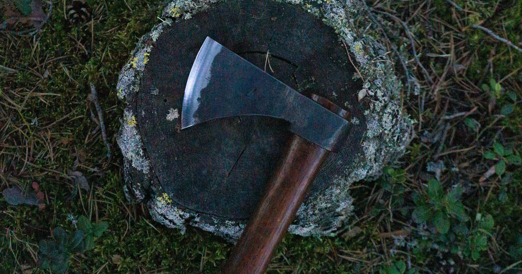 Types head old axe Vintage Hults